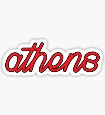 athens cursive Sticker