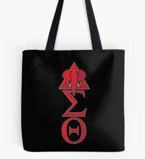 Elephant Delta Triangle Sigma Red Theta T-Shirt 2 Tote Bag