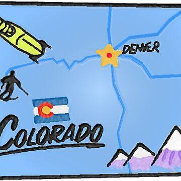 Touristische Karte von Colorado von Havocgirl