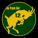 Aaron Rodgers Goat Go Pack Go (transparent) by Kowulz