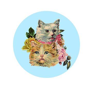 Vintage Cat Lovers Design by kathleenfrank