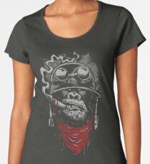 Smoking Monkey - Gorilla Women's Premium T-Shirt
