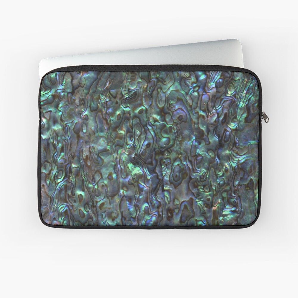 Abalone Shell | Paua Shell | Seashell Patterns | Sea Shells | Natural |  Laptop Sleeve