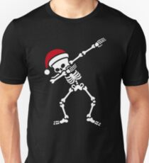 Santa dab / dabbing skeleton Slim Fit T-Shirt