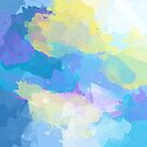 Colorful Abstract - blue, pattern, clouds, sky by floartstudio