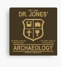 Dr. Jones' Archaeology Canvas Print