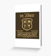 Dr. Jones' Archaeology Greeting Card