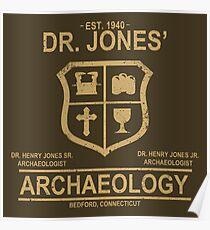 Dr. Jones' Archaeology Poster