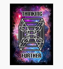Thinking Further - 5D Hypercube Photographic Print