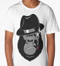 Smoking Monkey - Top Hat Long T-Shirt