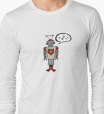 Robot Talking Nuts and Bolts Long Sleeve T-Shirt