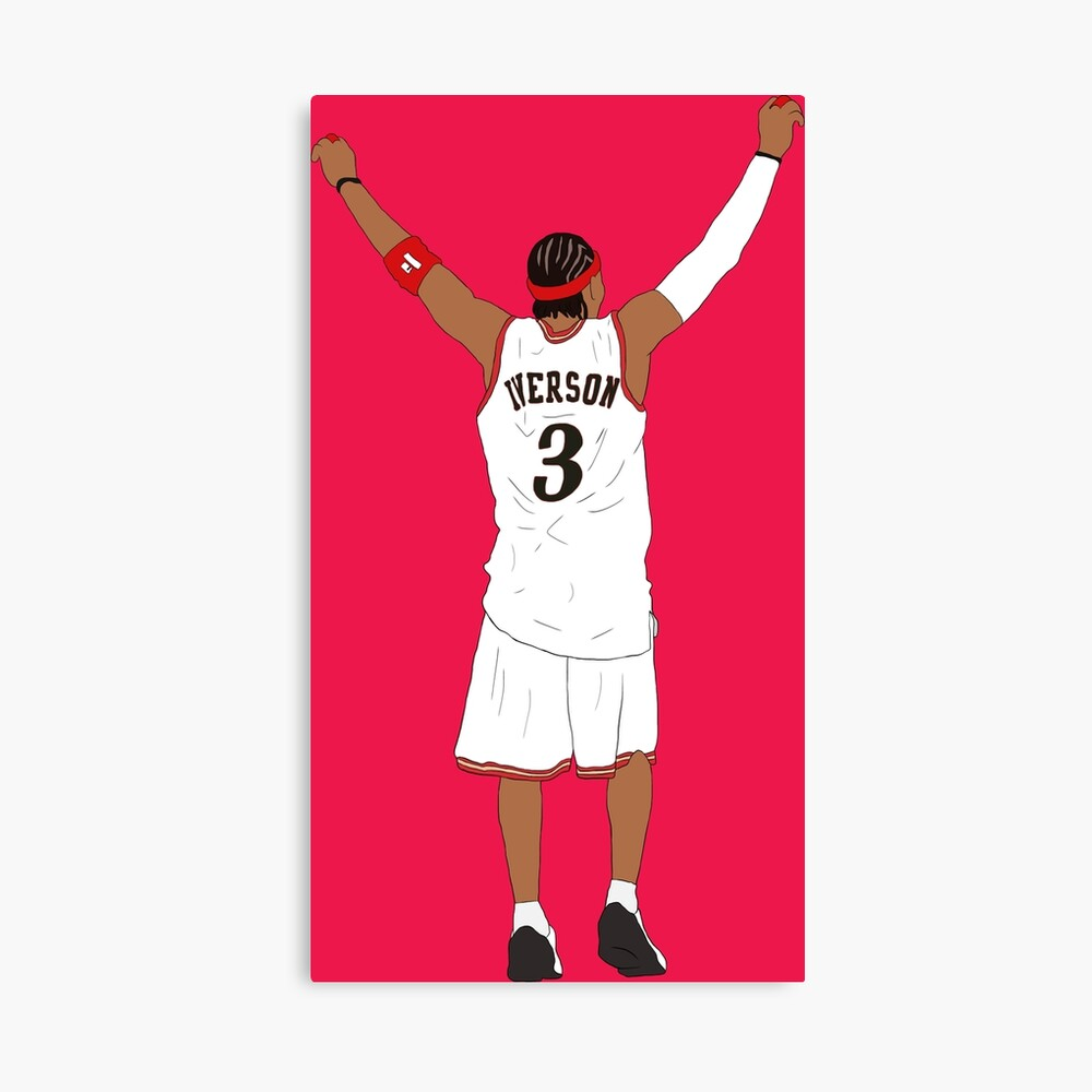 Allen Iverson Back-To Canvas Print
