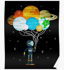 Planet Balloons - Space Party Poster
