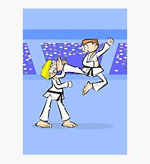 Karate two boys in full combat Photographic Print