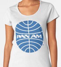 Pan Am Tshirt - Defunct Airline Company Logo - Airline Memorabilia - Retro Company Logo - Retro Tshirt Women's Premium T-Shirt