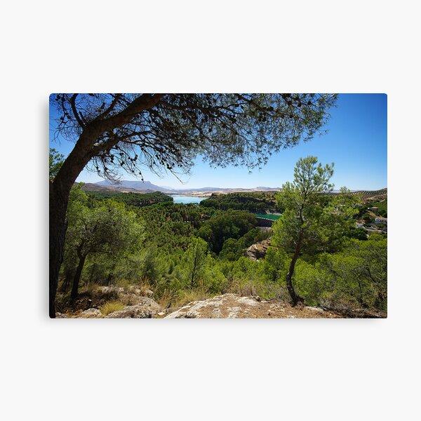Distant Lake in El Choro Canvas Print