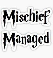 Mischief Managed - Harry Potter Quote Sticker