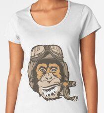 Smoking Monkey - Aviator Women's Premium T-Shirt