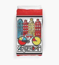 AMSTERDAM : Vintage Bicycle Advertising Print Duvet Cover