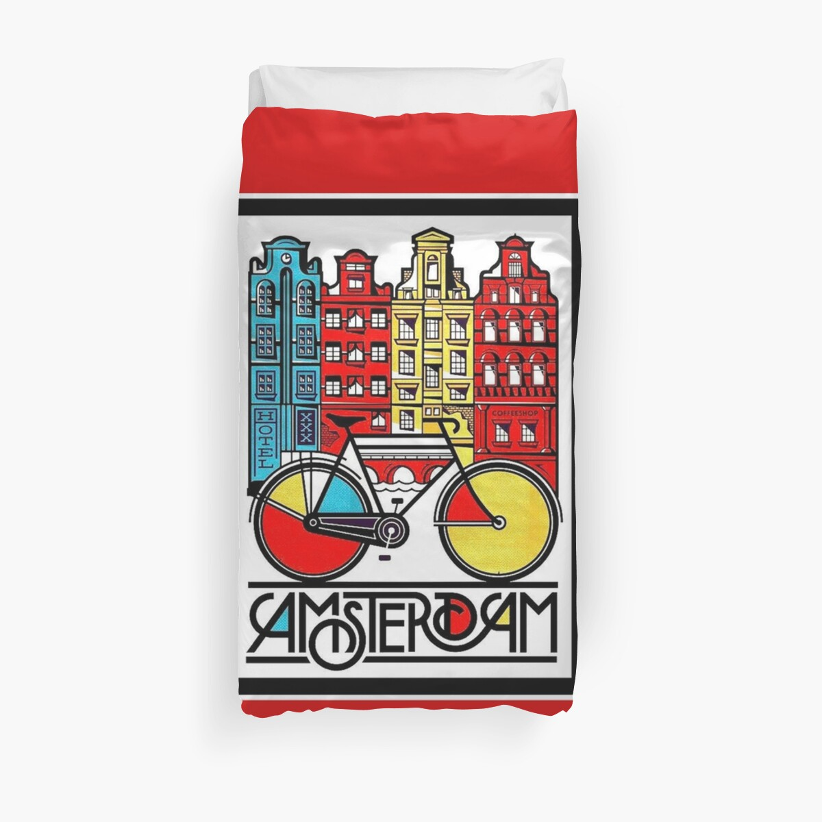 AMSTERDAM : Vintage Bicycle Advertising Print by posterbobs