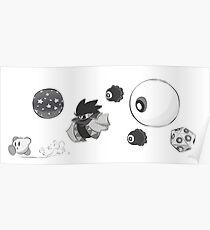 Kirby's Monochrome Final Bosses Poster