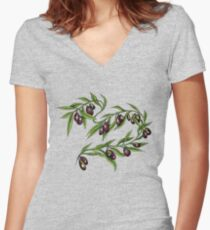 Olive Branch t-shirt Women's Fitted V-Neck T-Shirt