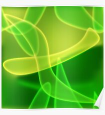 Green Glowing Abstract Texture Poster