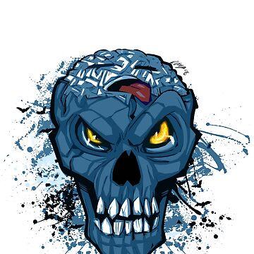 BRAIN DEAD blue by rachelgeorge