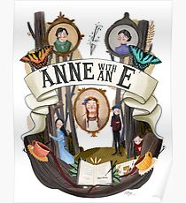 Anne with an illustration Poster