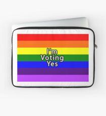Rainbow Flag Vote Yes Laptop Sleeve