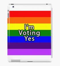 Rainbow Flag Vote Yes iPad Case/Skin