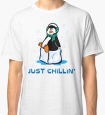 Just Chillin' Penguin Classic T-Shirt