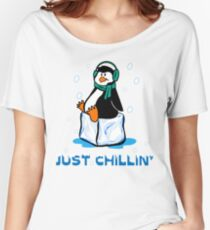 Just Chillin' Penguin Women's Relaxed Fit T-Shirt