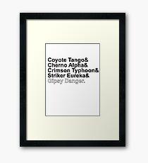 Jaegers Framed Print
