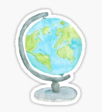 Watercolor Globe Sticker