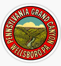 Pennsylvania Grand Canyon Wellsboro Vintage Travel Decal Sticker