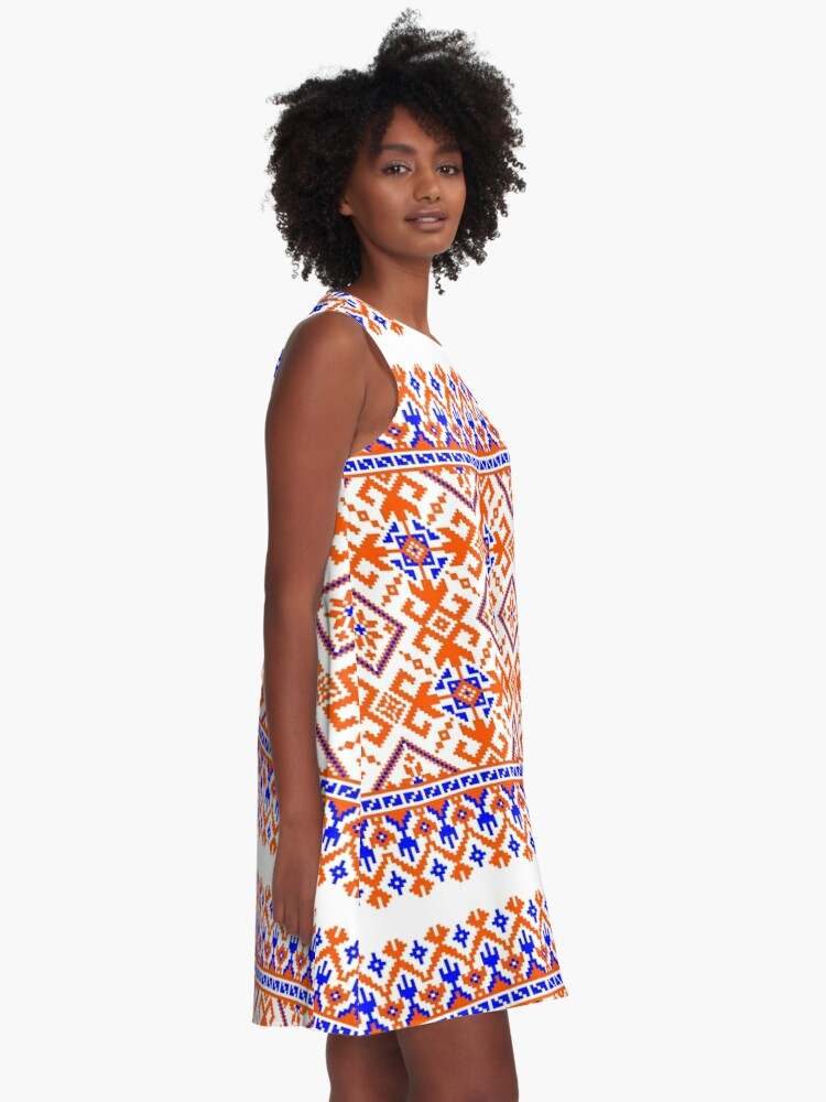 Alternate view of Festive Gator Gameday Dress A-Line Dress