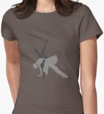 Ballet Sillouette Womens Fitted T-Shirt