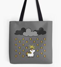 Candy corn unicorn magically transforms a dreary day into a sweet day Tote Bag