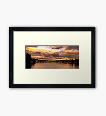 Storm Clouds - Newport Marina - The HDR Series Framed Print