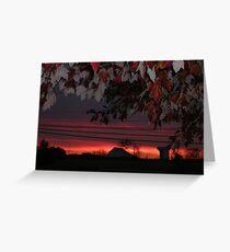 Bright Fall Sunset Greeting Card