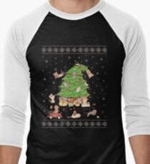 Meowi Christmas Men's Baseball ¾ T-Shirt