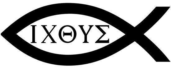 Ixoye Christian Fish Symbol Posters By Blackbeardghost Redbubble