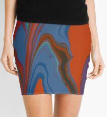 Blue Patch Mini Skirt