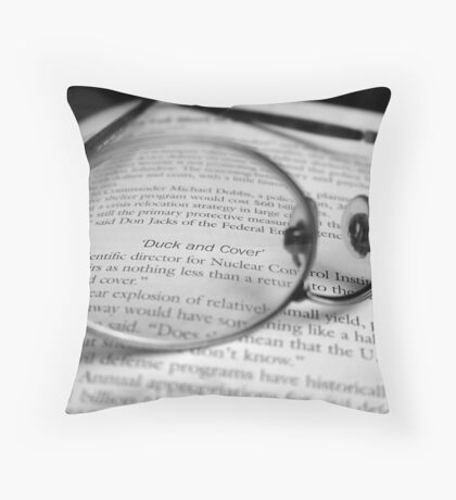 Duck and Cover Throw Pillow