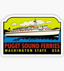 Puget Sound Ferries Washington Vintage Travel Decal Sticker