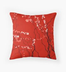 Cherry Blossom Red  (5132 views as of 062517) Throw Pillow