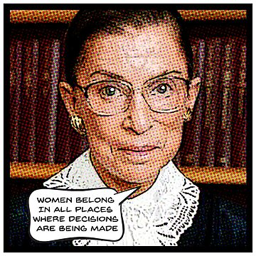 RUTH BADER GINSBURG - RBG Feminist Quote SCOTUS by starkle