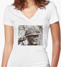 The Smiths- Meat is Murder Women's Fitted V-Neck T-Shirt