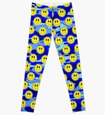 Smiley-Blau-Tarnung Leggings